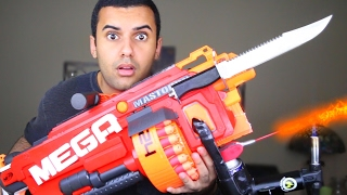 getlinkyoutube.com-MOST DANGEROUS TOY OF ALL TIME 3.0!! (EXTREME NERF GUN / ZING BOW EDITION!!) FLAMETHROWER & BAYONET