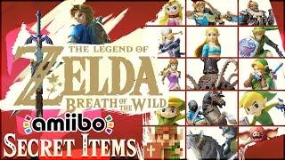 The Legend of Zelda: Breath of the Wild - ALL 15 Amiibo Unlockables + SECRET ITEMS!