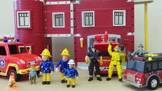 getlinkyoutube.com-Feuerwehrmann FIREMAN SAM VISITS NEW YORK FIRE DEPT.  FULL EPISODE
