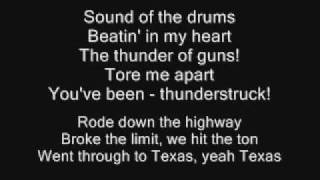 getlinkyoutube.com-AC/DC - Thunderstruck Lyrics