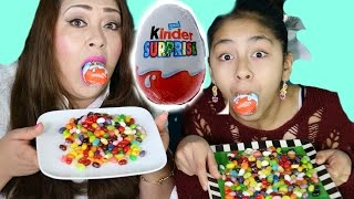 getlinkyoutube.com-Hungry Hungry Hippo Challenge With Kinder Eggs Jelly Belly Gumballs| B2cutecupcakes