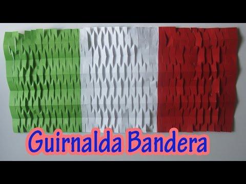 Manualidad : Decoracion de Fiestas Patrias   Guirnalda bandera - Flag garland