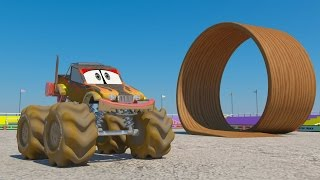 getlinkyoutube.com-Car Wash 3D | Monster Truck Car Wash | Kids Videos | Monster truck stunts