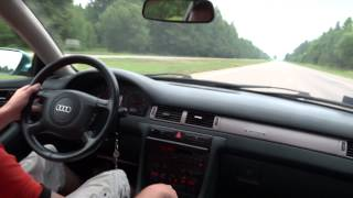 getlinkyoutube.com-AUDI A6 c5 2.4 quattro ! Разгон 0 - 220 км.ч. Тест был на Газу !