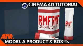 Cinema 4D Tutorial - Model a Product and Box