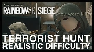 getlinkyoutube.com-Rainbow Six Siege - Terrorist Hunt Realistic Difficulty Victory! No Commentary  - Gameplay Part 1