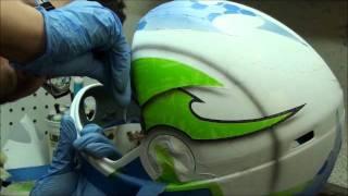 getlinkyoutube.com-Brainshell - Insane custom airbrush paint on Cookie helmet