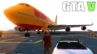 getlinkyoutube.com-Grand Theft Auto V - Big plane, Military Base - Tanks and Fighter Jets [GTA 5 Gameplay]