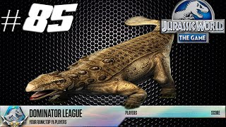 getlinkyoutube.com-Jurassic World The Game - Antarctopelta Tournament Dominator League & Dino Stamped #85