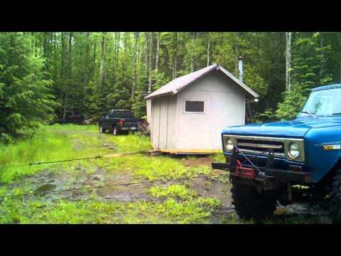 Yooper fun, sauna relocation 1 of 3