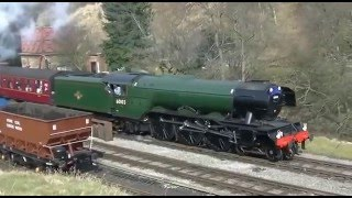 getlinkyoutube.com-Flying Scotsman at the North York Moors Railway 12th March 2016