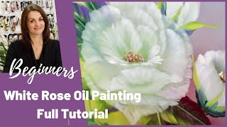 getlinkyoutube.com-Paint With Maz - White Rose in Oils - Full Step by Step Tutorial