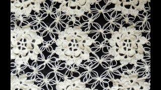 getlinkyoutube.com-Crochet : Motivo Flor y uniones en Punto Salomón