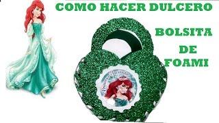 getlinkyoutube.com-COMO HACER DULCERO DE LA SIRENITA /BOLSITA DE FOAMI