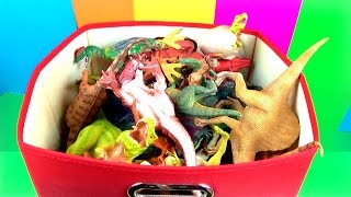 getlinkyoutube.com-DINOSAUR Box 1 TOY COLLECTION Jurassic World T REX SPINOSAURUS Toy Review SuperFunReviews