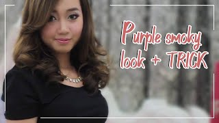 getlinkyoutube.com-Purple smoky look + TRICK