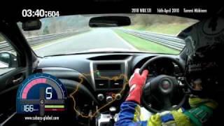 Subaru WRX STI sedan Nürburgring record lap