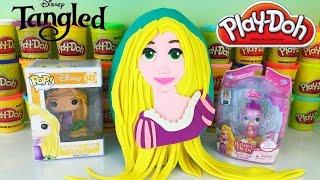 getlinkyoutube.com-Giant Disney Princess RAPUNZEL Tangled Play-Doh Surprise Egg | Palace Pets | Funko Pop