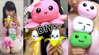 getlinkyoutube.com-3 Room Decor DIYs: DIY Dango Plush Pillow + DIY Octopus Plush + DIY Banana Plush