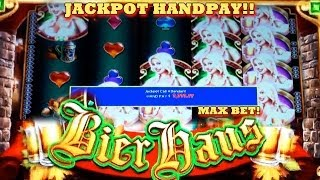 getlinkyoutube.com-HANDPAY!! Bier Haus - (MAX BET) - Slot Machine Bonus - (WMS) COUNTRY GIRL SPEAKS!!!