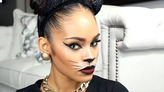 getlinkyoutube.com-Last Minute Halloween Makeup Tutorial - Sexy Cat