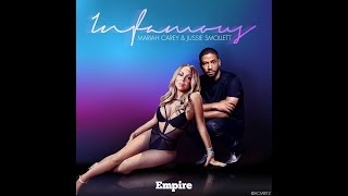 INFAMOUS - EMPIRE CAST, MARIAH CAREY, JUSSIE SMOLLETT karaoke version ( no vocal ) lyric