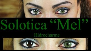 "getlinkyoutube.com-Solotica Hidrocharme ""MEL"" lenses on Dark eyes : Demo& Review"
