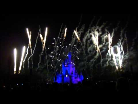 Wishes Nightime Spectacular, Magic Kingdom, Walt Disney World, (HD) - Winter