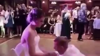 The Groom  Worshiped and kiss Bride feet. Wedding Foot Worship width=