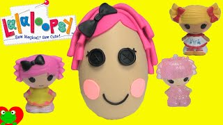 getlinkyoutube.com-Lalaloopsy Tinies Blind Bags in a Lalaloopsy Crumbs Play Doh Surprise Egg