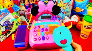 getlinkyoutube.com-Minnie Mouse Bow-tique Electronic Cash Register Mickey Mouse Clubhouse Disney Junior Toys FluffyJet