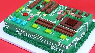 getlinkyoutube.com-HOW TO MAKE A MOTHERBOARD CAKE - NERDY NUMMIES
