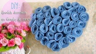getlinkyoutube.com-DIY: Almofada decorativa em formato de coração de flores ❤