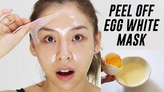 getlinkyoutube.com-Peel Off Egg White Mask | TINA TRIES IT