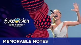 Memorable notes at the Eurovision Song Contest