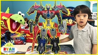 Power-Rangers-vs-Justice-League-MegaZord-battle-Imaginext-T-Rex-Dinosaur-SuperHeroes-Toys-Play width=