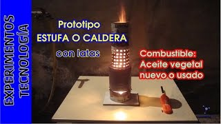 getlinkyoutube.com-Estufa-Quemador con LATAS y combustible gratis (aceite usado)