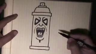 getlinkyoutube.com-How to draw graffiti character ''Spraycan Character''-with my voice instructions