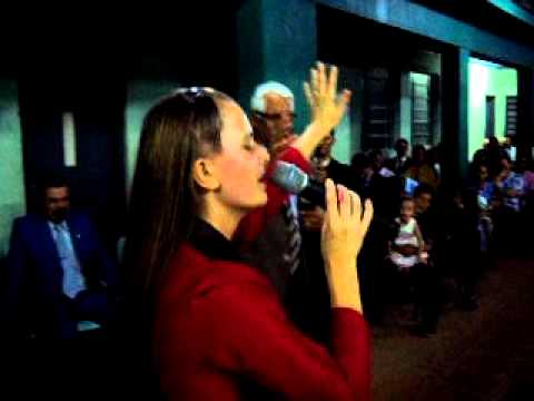Pregadora Rosane Paim(em Santa Maria-Rs)Pr.Elizeu Profetizando.