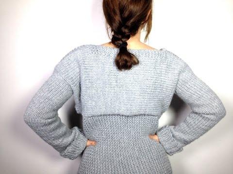 Cómo tejer un jersey / suéter / pullover con un telar circular (Tutorial DIY)