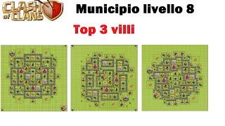 getlinkyoutube.com-Clash of Clans - Municipio livello 8 (4 mortai) - Top 3 Villaggi