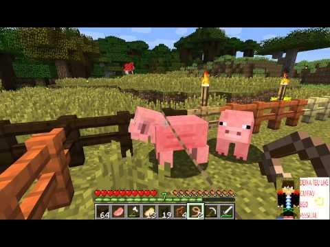 Minecraft Survival #10 Caçando animais