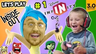 getlinkyoutube.com-Lets Play DISNEY INFINITY 3.0 INSIDE OUT #1: Into the Mind's I (FGTEEV Duddy & Chase Gameplay)