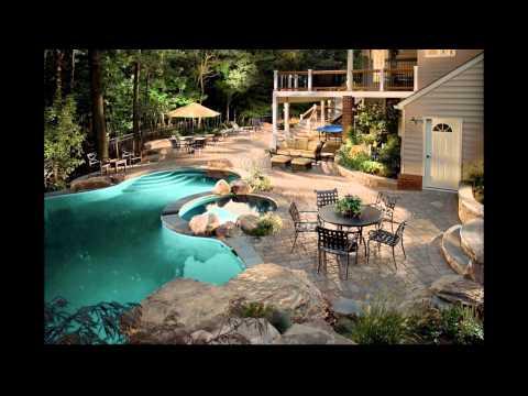 Diseño de Jardines Modernos con piscina. HD-3D. Arte y Jardinería Diseño de Jardines