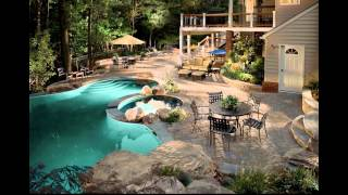 getlinkyoutube.com-Diseño de Jardines Modernos con piscina. HD-3D. Arte y Jardinería Diseño de Jardines