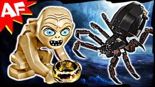 getlinkyoutube.com-GOLLUM & SHELOB Attacks 9470 Lego Lord of the Rings Set Animated Building Review