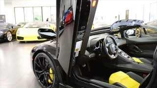 getlinkyoutube.com-2014 Lamborghini Aventador LP 700-4 Roadster Nero Aldebaran LC271