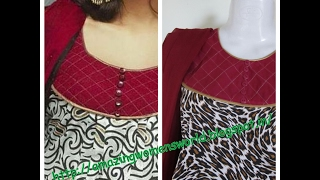getlinkyoutube.com-ROUND NECK ZARI PATCH WORK