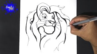 getlinkyoutube.com-Como dibujar a simba 3 - como dibujar al rey leon - Draw simba lion king - how to draw lion king