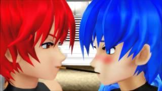 getlinkyoutube.com-【MMD】 Akaito x Kaito - Pocky Game (Slight Yaoi Warning)